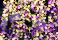 Kerstmis van Defocused steekt achtergrond aan Stock Afbeelding