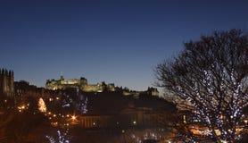 Kerstmis van Edinburgh stock afbeeldingen