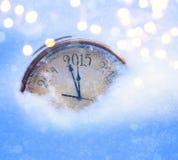 Kerstmis van 2015 en nieuwe jarenvooravond Stock Foto