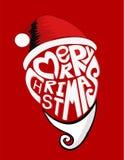 Kerstmis van gezichtssanta vecter Stock Illustratie