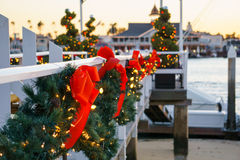 Kerstmis van het de Bootdok van het Balboaeiland Stock Afbeelding