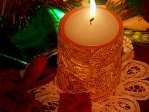 Kerstmis van het kaarslicht Stock Afbeelding