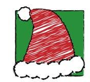 Kerstmis van het kind - de hoed van de Kerstman Royalty-vrije Stock Afbeelding