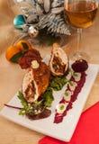Kerstmis van het kippenbroodje royalty-vrije stock fotografie