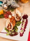 Kerstmis van het kippenbroodje royalty-vrije stock afbeeldingen