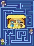 Kerstmis van het labyrint royalty-vrije illustratie