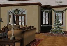 Kerstmis van het land stock illustratie