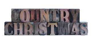 Kerstmis van het land stock foto's