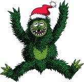 Kerstmis van het monster Stock Fotografie