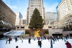 Kerstmis van het Rockefellercentrum Stock Fotografie
