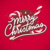 Kerstmis Van letters voorziende Kaart Royalty-vrije Stock Afbeelding