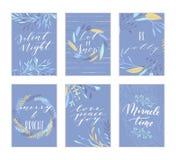 Kerstmis van letters voorziende kaarten Royalty-vrije Stock Afbeeldingen