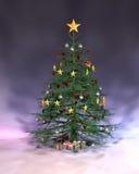 Kerstmis van Pulple Royalty-vrije Stock Afbeeldingen