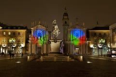 Kerstmis van Turijn steekt 2010 aan Royalty-vrije Stock Afbeeldingen