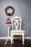 Kerstmis vastgestelde photosesion Stock Foto's