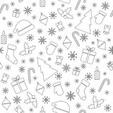 Kerstmis vector naadloos patroon Royalty-vrije Stock Afbeelding