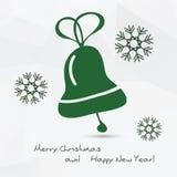 Kerstmis vectorillustratie - klok Stock Foto