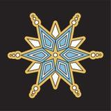 Kerstmis vectorsneeuwvlokken pictogrammen Stock Foto