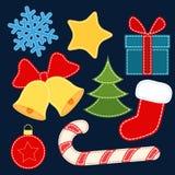Kerstmis vectorstickers Royalty-vrije Stock Foto's