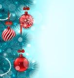 Kerstmis verlicht Achtergrond stock illustratie