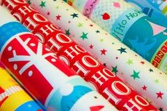 Kerstmis verpakkend document Royalty-vrije Stock Afbeeldingen