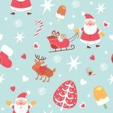 Kerstmis verpakkend document - naadloze textuur Vector illustratie vector illustratie