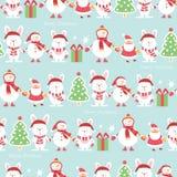 Kerstmis verpakkend document - naadloze textuur Vector illustratie royalty-vrije illustratie