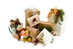 Kerstmis verpakt 1 Royalty-vrije Stock Afbeelding