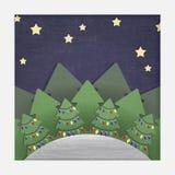 Kerstmis Verwijderd Forest Paper Stock Foto