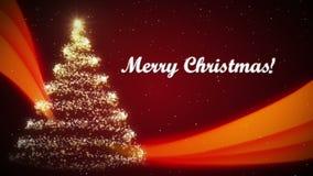 Kerstmis Videokaart stock illustratie