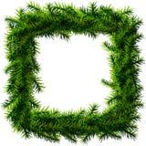 Kerstmis vierkante kroon zonder decoratie stock illustratie