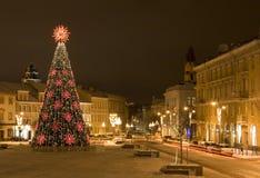 Kerstmis in Vilnius Stock Afbeeldingen