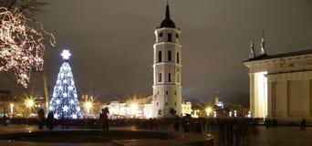 Kerstmis in Vilnius stock foto