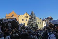 Kerstmis in vipiteno stock fotografie