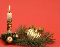 Kerstmis votive kaars royalty-vrije stock fotografie