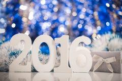 Kerstmis witte cijfers 2016 Stock Foto's