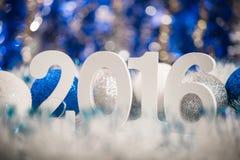 Kerstmis witte cijfers 2016 Stock Afbeelding