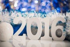 Kerstmis witte cijfers 2016 Royalty-vrije Stock Foto's