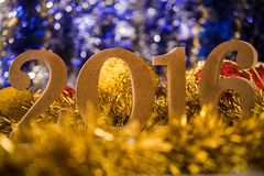 Kerstmis witte cijfers 2016 Royalty-vrije Stock Afbeelding