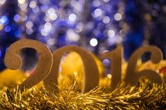 Kerstmis witte cijfers 2016 Stock Foto