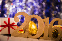 Kerstmis witte cijfers 2016 Stock Fotografie