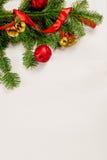 Kerstmis witte houten hoogste mening als achtergrond Stock Afbeeldingen