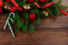Kerstmis witte houten hoogste mening als achtergrond Stock Afbeelding