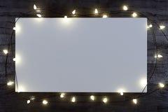 Kerstmis witte spot op affiche Royalty-vrije Stock Afbeelding