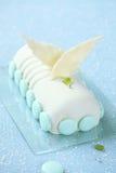 Kerstmis Yule Log Cake Royalty-vrije Stock Fotografie