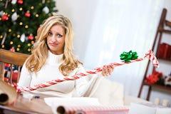 Kerstmis: Zeker hoe te om geen Golfclub te verpakken Royalty-vrije Stock Afbeelding