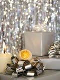 Kerstmis - Zilveren Stilleven Stock Afbeelding