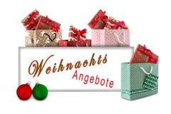 Kerstmisaanbiedingen royalty-vrije stock foto