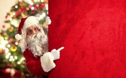 Kerstmisaanplakbord van de Kerstman Royalty-vrije Stock Afbeeldingen