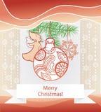Kerstmisachtergrond. Stock Afbeelding
